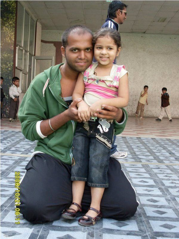 Abhijeet Shinde With His Daughter