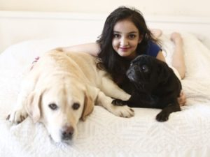 Aisha-Chaudhary-with-her-Pets
