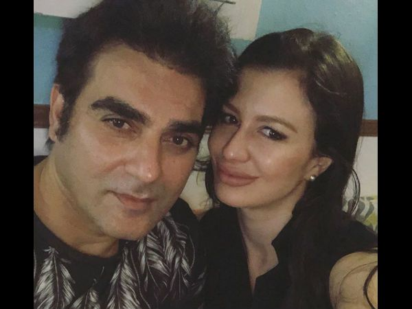 Giorgia Andriani with Arbaaz Khan