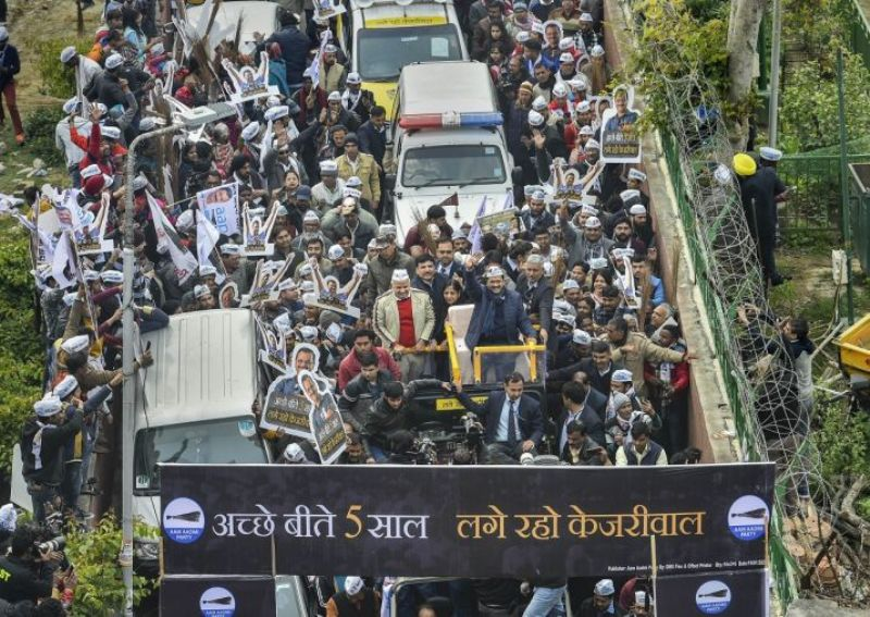 Arvind Kejriwal Going to File His Nomination During the 2020 Delhi Assembly Elections
