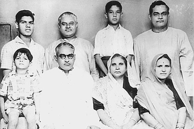 Atal Bihari Vajpayee (upper extreme right) with his family