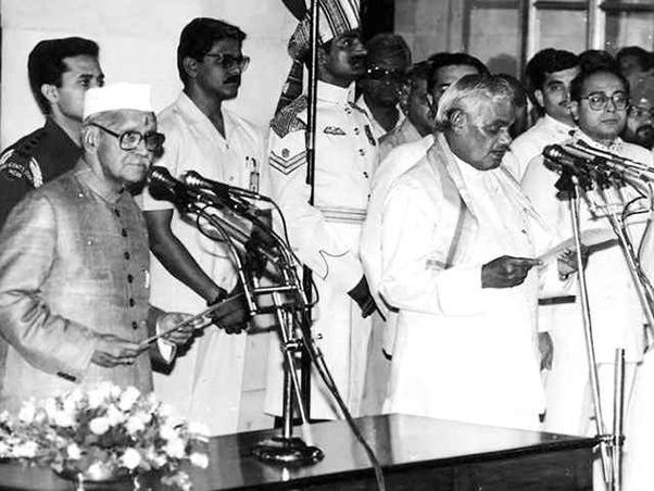 Atal Bihari Vajpayee was sworn in as 10th Prime Minister of India by then President Shankar Dayal Sharma