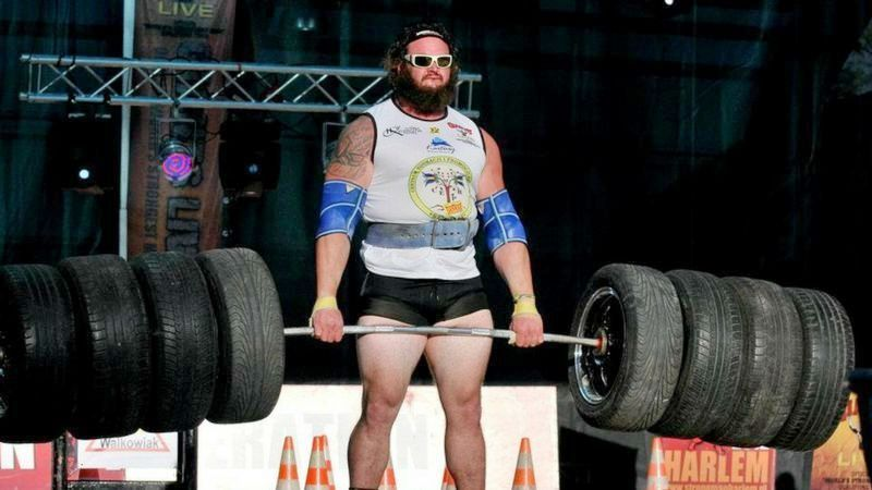 Braun Strowman in the Strongman competition