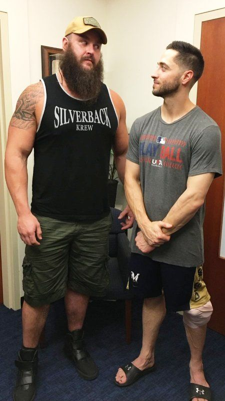 Braun Strowman with Ryan Braun