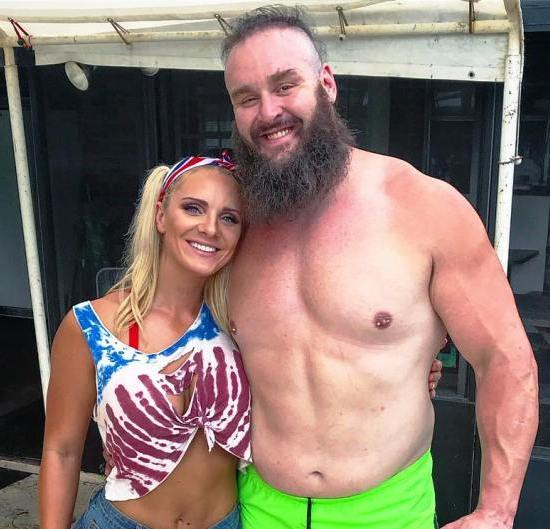 Braun Strowman with his girlfriend Kailey Dawn Farmer