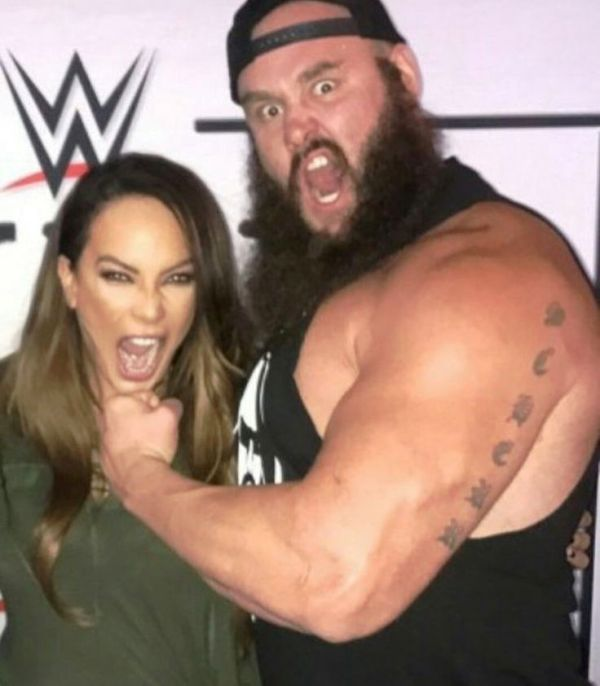Braun Strowmans Surname Scherr Written on his Left Arm Tattoo
