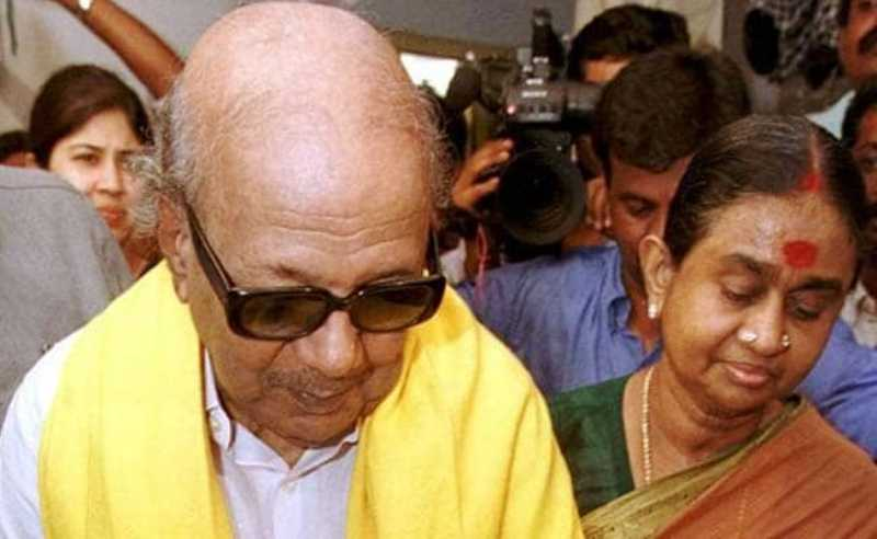 Dayalu Ammal With Her Husband, M. Karunanidhi