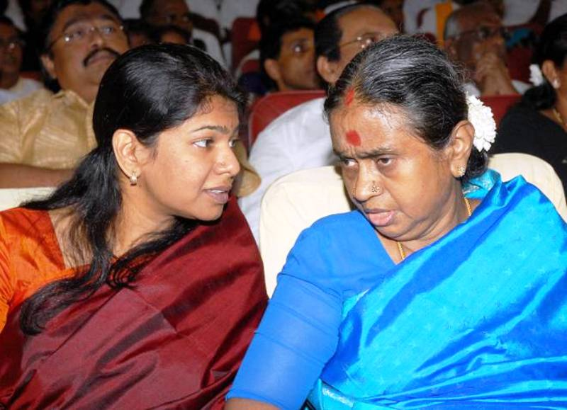 Dayalu Ammal With Her Step Daughter, Kanimozhi