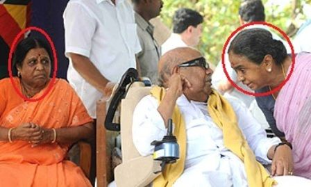 Dayalu Ammal With Karunanidhi and Rajathi Ammal