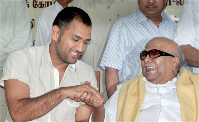 Karunanidhi meeting MS Dhoni