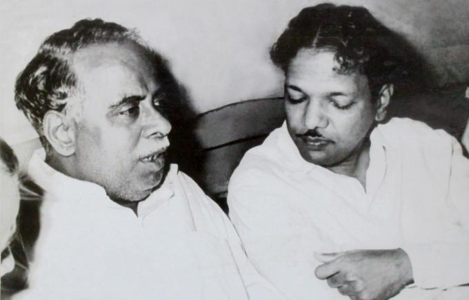 Karunanidhi with Annadurai