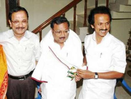 M. K. Alagiri with his brothers