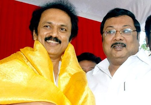 M. K. Stalin with his brother M. K. Alagiri