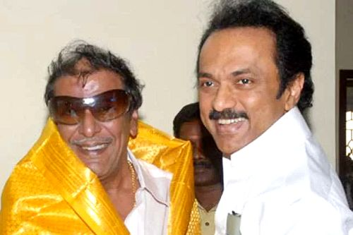 M. K. Stalin with his brother M. K. Muthu
