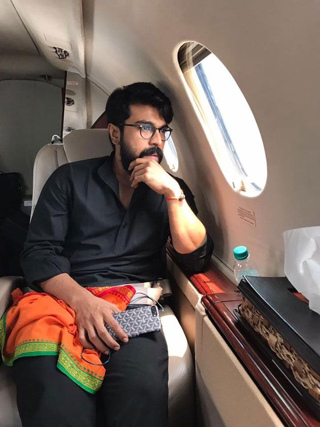 Ram Charan Travelling by air