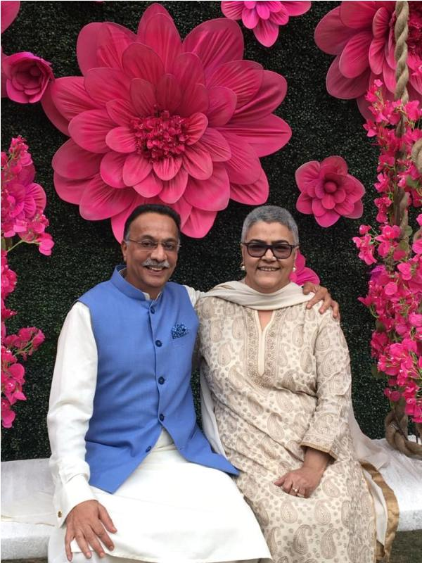 Ranjan Bhattacharya With His Wife, Namita Bhattacharya