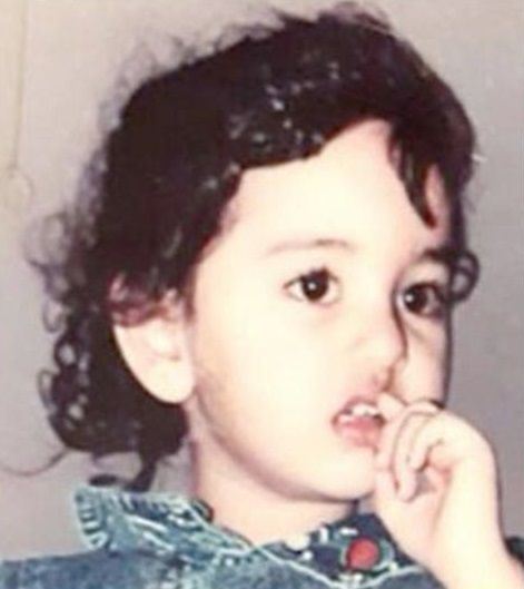 Sonakshi Sinha Childhood Picture