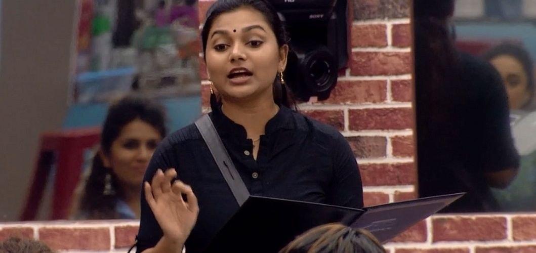 Sreelakshmi Sreekumar in the house of Bigg Boss Malayalam 1
