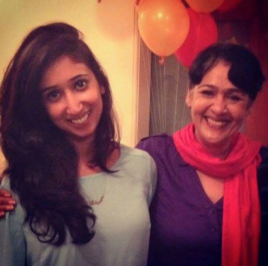 Sujata Kumar with her daughter
