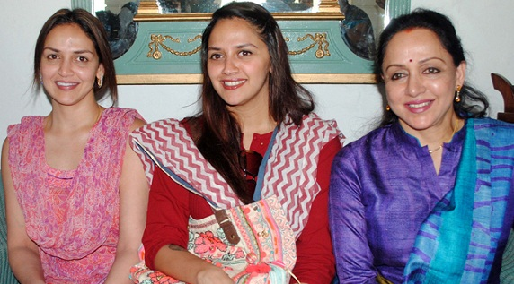 Hema Malini with her daughters