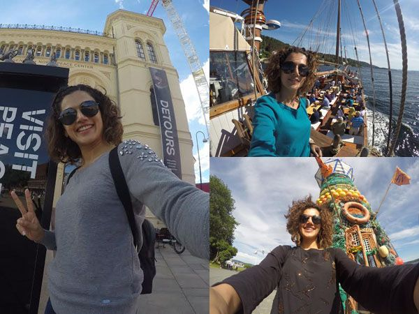 Taapsee Pannu during her Europe Tour
