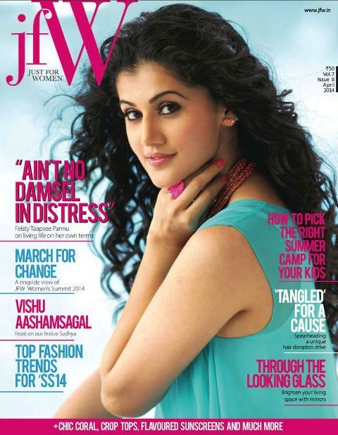 Taapsee Pannu on Magazine's Cover Page