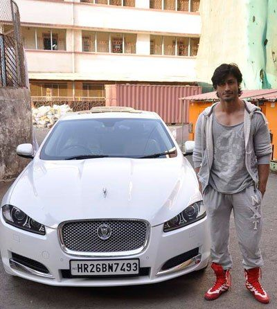 Vidyut Jammwal with his Jaguar