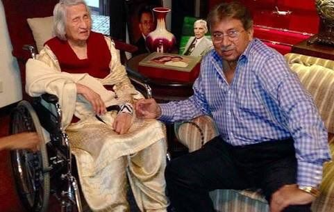 pervez musharraf and mother