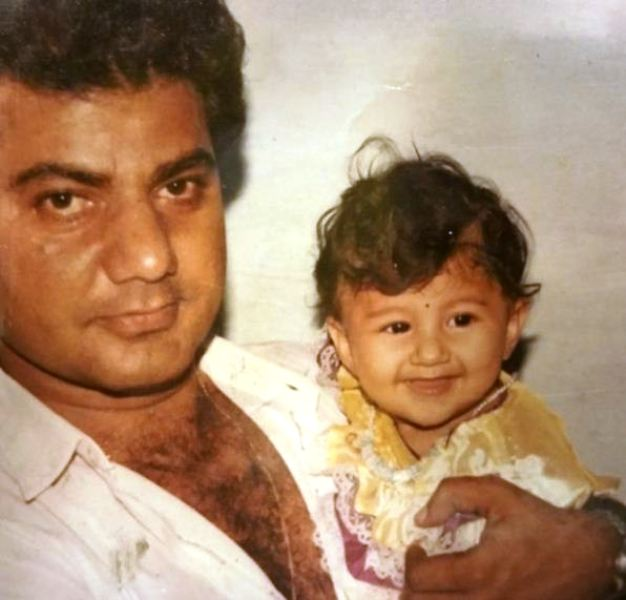 A Childhood Picture of Jasleen Matharu With Her Father