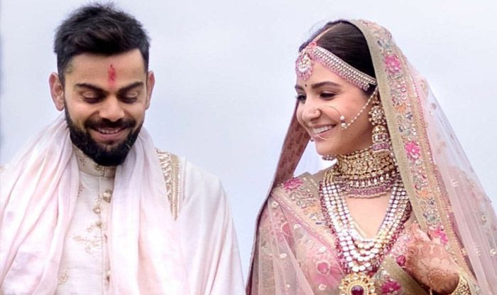 Anushka Sharma and Virat Kohli marriage photo