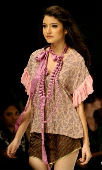 Anushka Sharma at Lakme fashion week