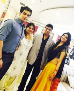 Kriti Verma with her parents and brother