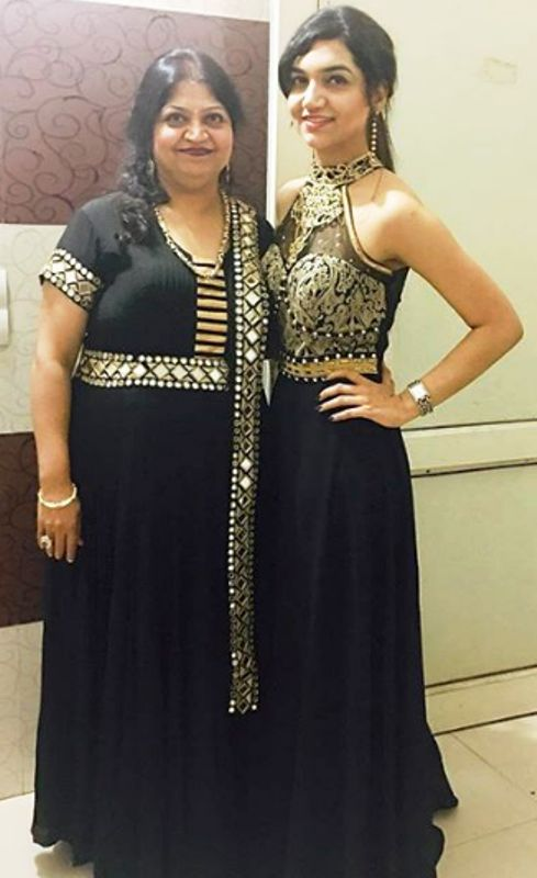 Kriti Verma with her mother