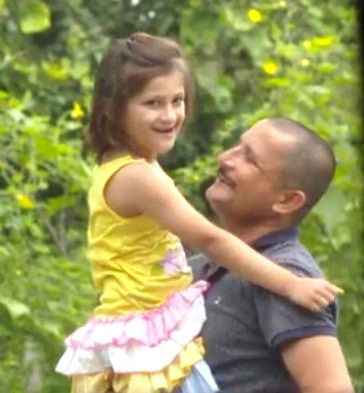 Nirmal Singh with his daughter
