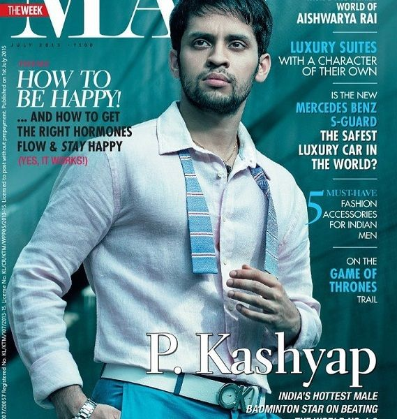 Parupalli Kashyap on the cover of 'The Man' magazine