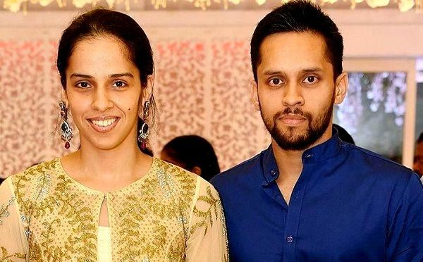 Parupalli Kashyap with Saina Nehwal