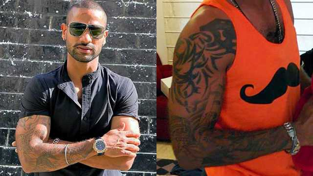 Shikhar-Dhawan's-Right-arm-Tattoo