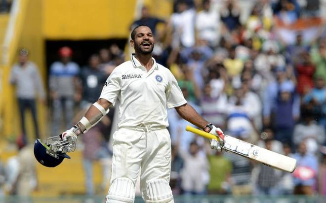 Shikhar Dhawan after scoring fastest test century