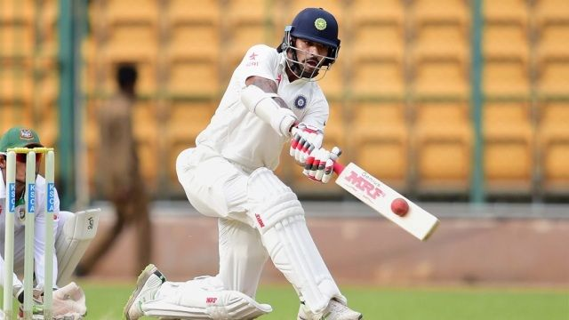 Shikhar Dhawan playing in Ranji Trophy