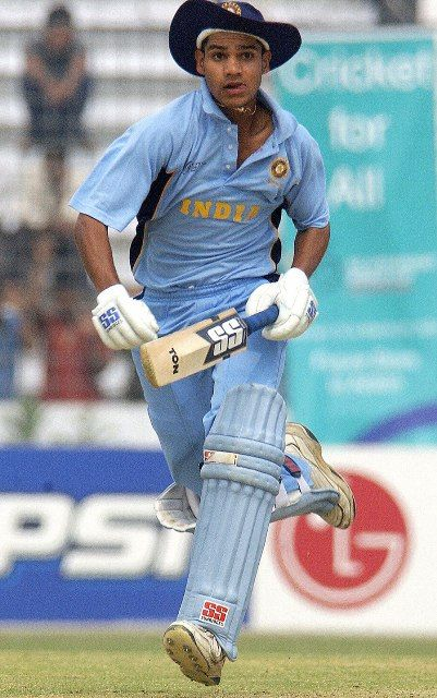 Shikhar Dhawan playing in Under-19 World Cup