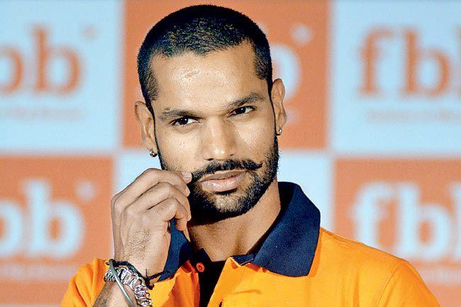 Shikhar Dhawan twirling his mustache