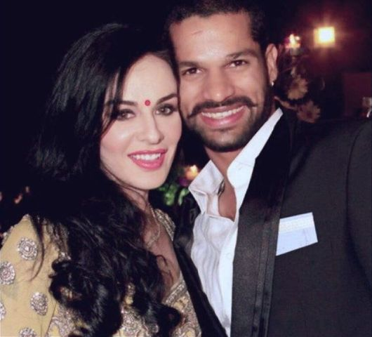 Shikhar Dhawan with his wife