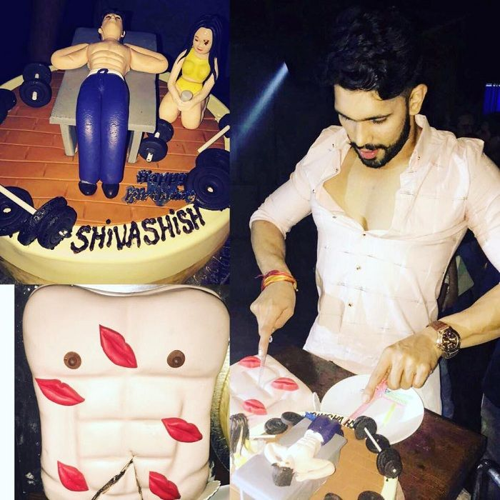 Shivashish Mishra cutting his birthday cake