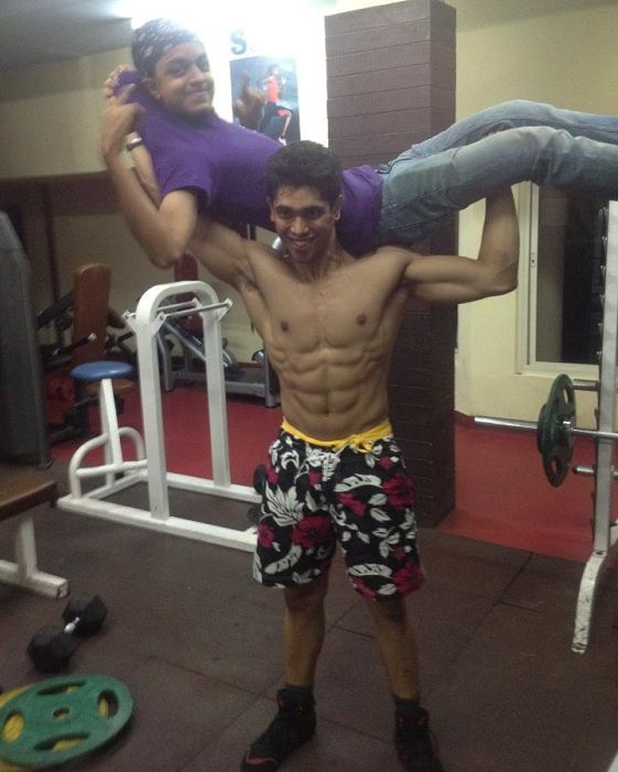 Shivashish Mishra during his workout