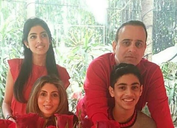 Shweta Bachchan Nanda with her husband and children