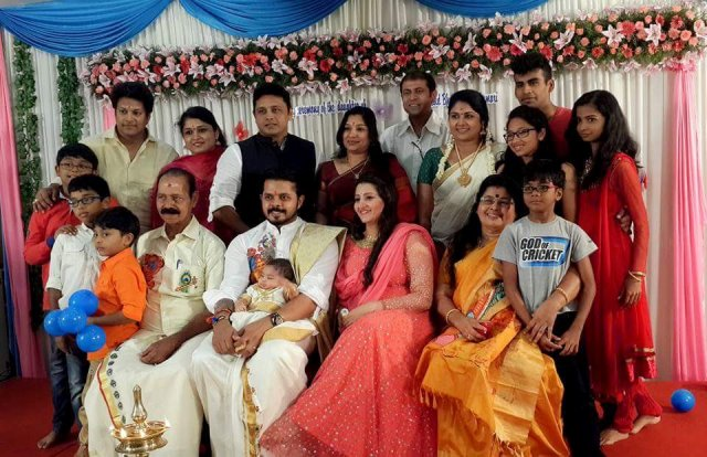 Sreesanth with his family