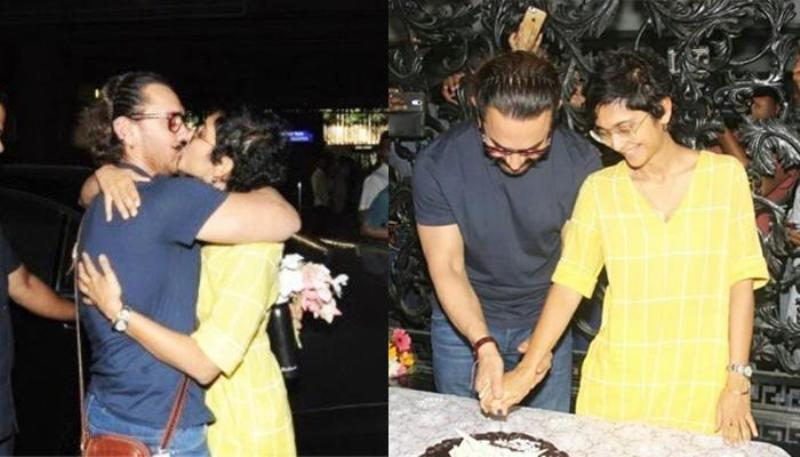 Aamir Khan Celebrating His 53rd Birthday With His Wife