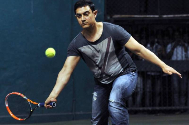 Aamir Khan Playing Tennis