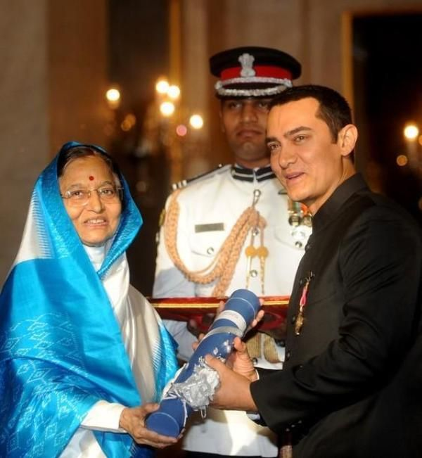 Aamir Khan Receiving Padma Bhushan