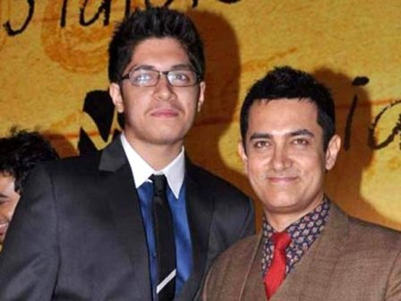 Aamir Khan With His Elder Son, Junaid Khan